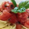 Spaghetti al pomodoro fresco