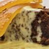 Brownie con crema pasticcera e arancia candita